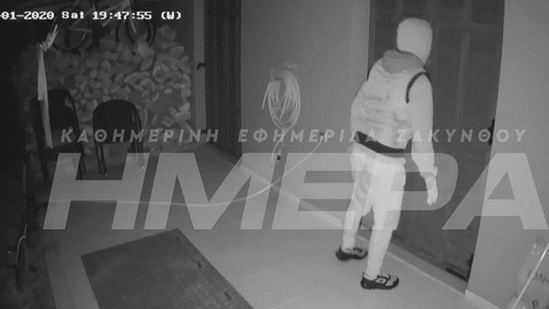 Ζάκυνθος: Βίντεο ντοκουμέντο από απόπειρα διάρρηξης σε σπίτι επιχειρηματία